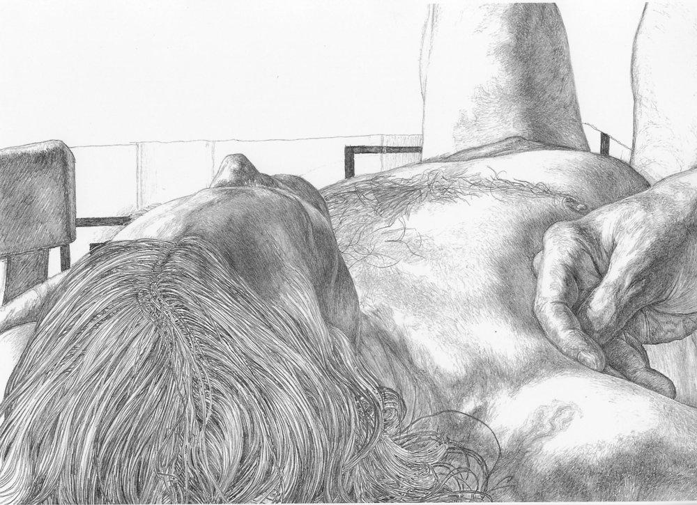 man laying down drawing 19378 usbdata