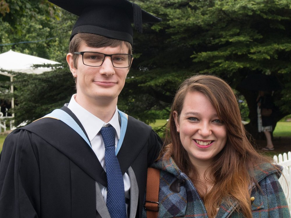 My girlfriend, Nikita, and I at my graduation - photo courtesy of Dad!