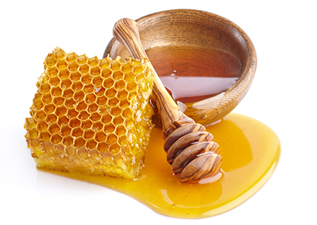 Honey    Home raised golden honey from our own beehives blended in our Madagascan vanilla bean base.    (NF, GF)