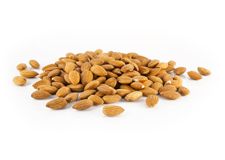 Toasted Almond - Almond butter, sea salt toasted almonds, and chopped almonds in our Madagascan vanilla bean base.(GF)