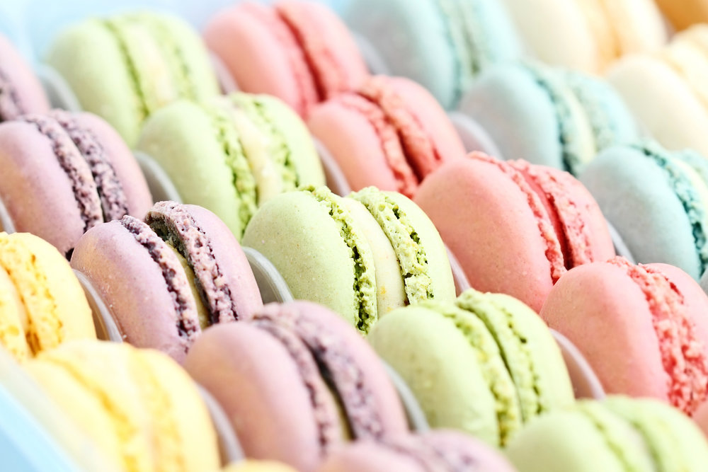 French Macaroons - The classic colorful macaroon in a variety of flavors.Ask us about our variety of flavors