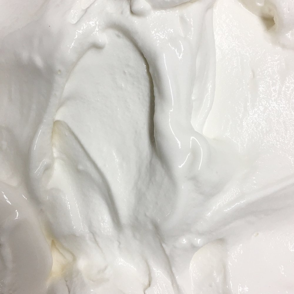 Sweet Cream   just like soft serve ice cream! Very mild vanilla flavor.  (NF, GF)