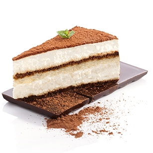 Tiramisu   - Madagascan vanilla bean base, with dark rum (alcohol free) & coffee infused lady fingers, & premium cocoa powder.(NF)