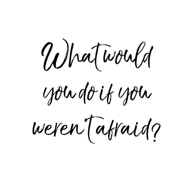"I once heard a saying.... ""Try to do one thing that scares you every day."" It's a good motivation to want to face and conquer our fears. - Ending this workweek with a question: What would YOU do if you weren't afraid? - #friday #tgif #happyfriday #friYAY #feelgoodfriday #fridayfeeling #dailymotivation #instamotivation #smallbusiness #entrepreneur"