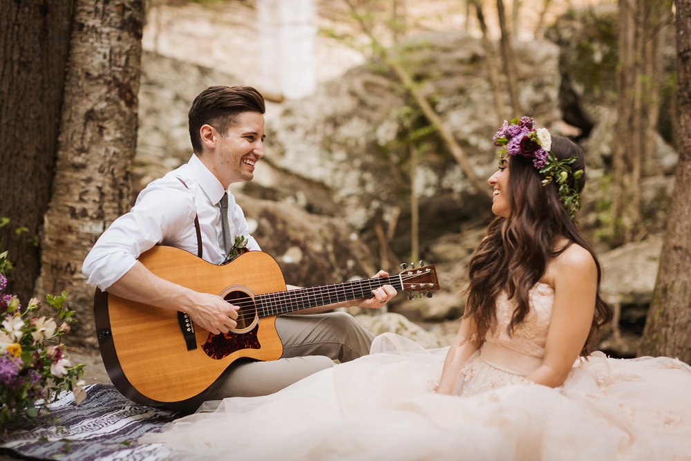 """We actually couldn't think of a song for this moment, so we ended up singing wrong lyrics for Ed Sheeran's """"Thinking Out Loud"""" under our breath."""