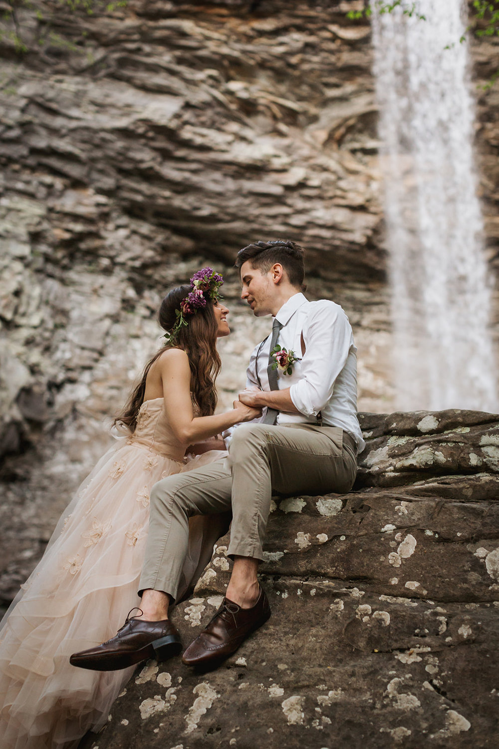 Glenn and Noel Campagna (PIECES) Promise Mountain Kayla Potterbaum Wedding Anniversary Photo Shoot at Ozone Falls, TN