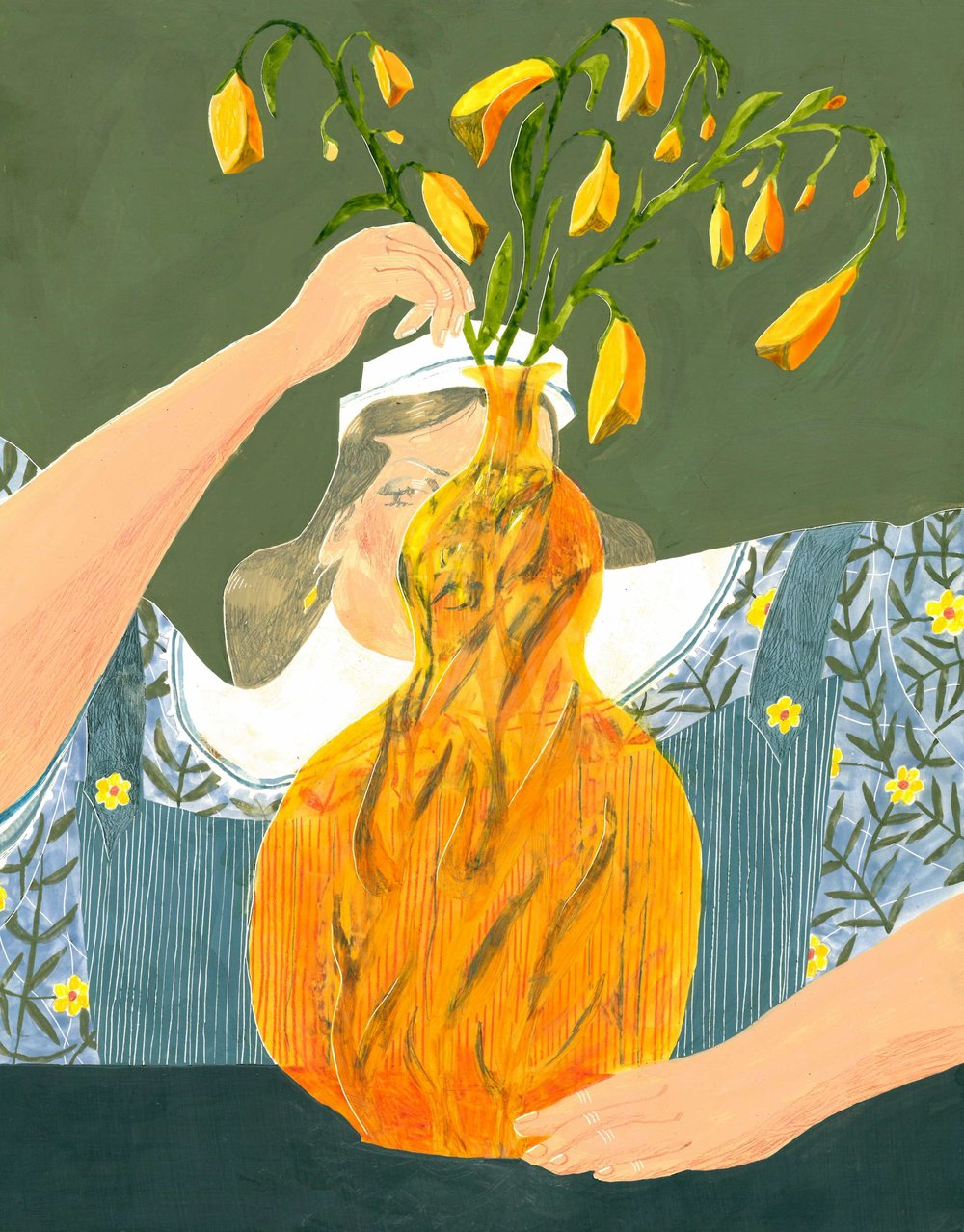 A Vision of Foxgloves , personal work, 2018   Winner of the 2019 Nancy Lee Rhodes Roberts Scholarship Award