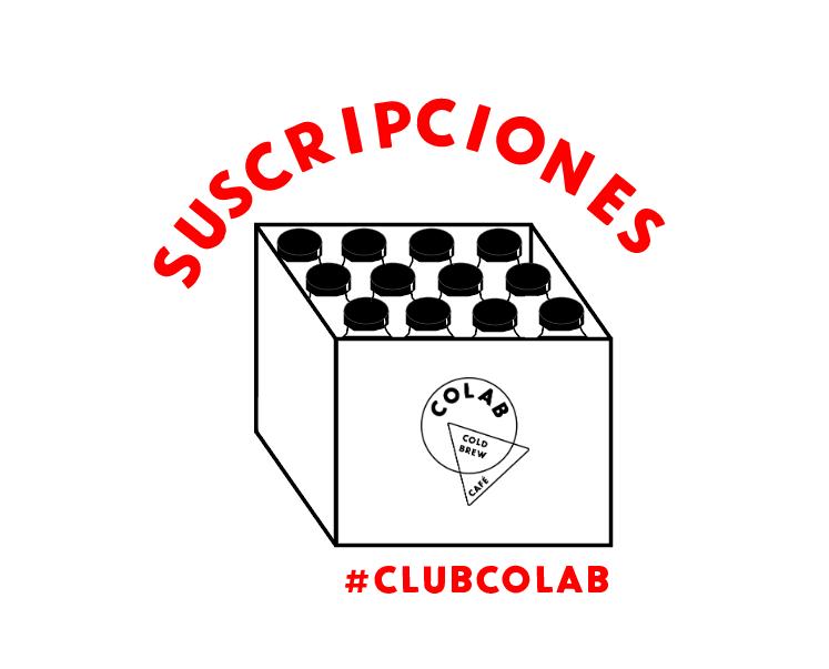 #ClubColab Suscripciones - A través de nuestro #CLUBCOLAB, ofrecemos suscripciones mensuales y semanales para amantes del cold brew café en la ciudad de Mexico. Elija sus preferencias y obtenga cold brew semanal, quincenal o mensualmente en su casa u oficina (o donde quieras).*También puedes comprar membresía al club como regalo. Comunícate con nosotros para hacerlo.⇨ leer más sobre nuestros suscripciones⇨ únete al club