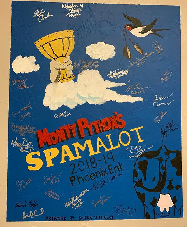 Thanks for letting us paint on your wall, Ft. Myers! #walltag #spamalot