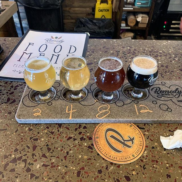 Sleeper/underrated brewery of the #spamalot tour is definitely @remedybrewcosf Their lineup includes a braggot, an imperial cream, a rye barrel aged barley wine, and more. #siouxfalls #craftbeer #remedybrewing #remedybrewingcompany