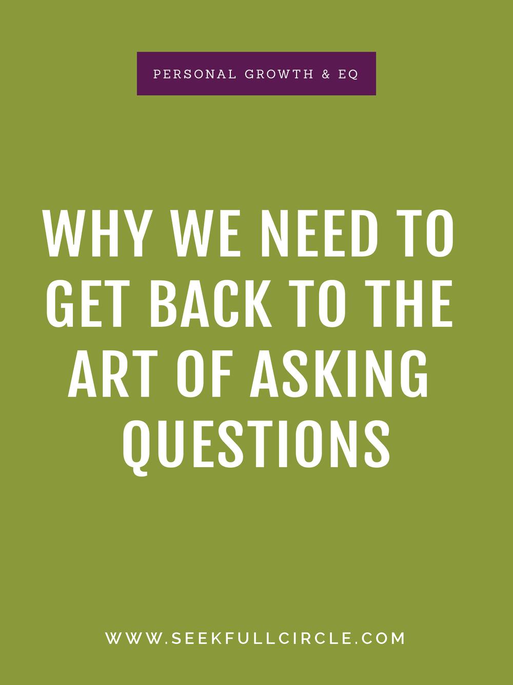 Kim Waltman Seek Full Circle Art of Asking Questions