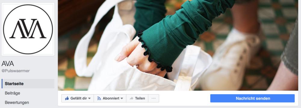 AVA – Pulswärmer mit Stil ist auf Facebook