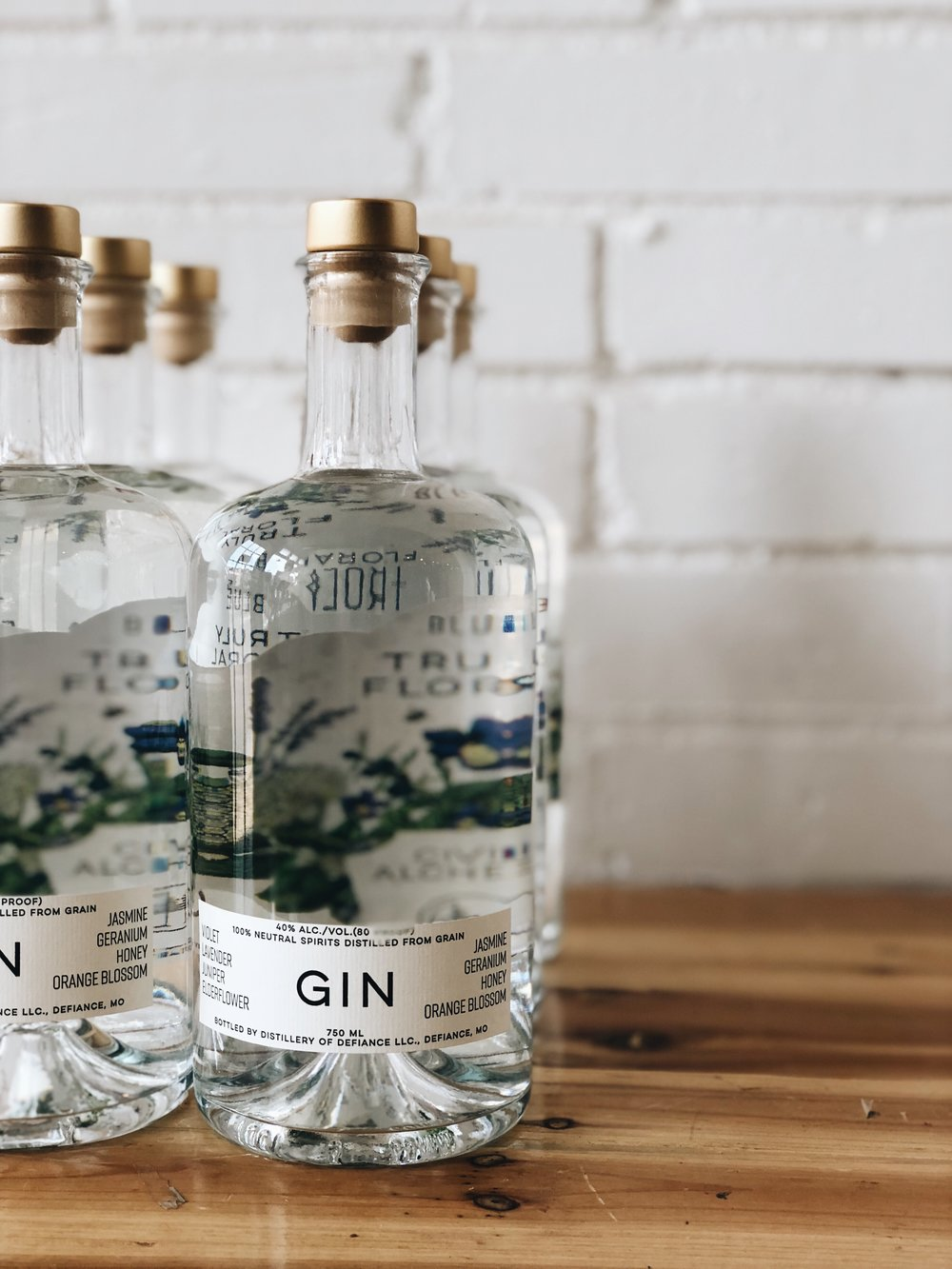 Gin especially crafted for Civil Alchemy with flavors of violet, lavender, juniper, elderflower, jasmine, geranium, honey, and orange blossom.