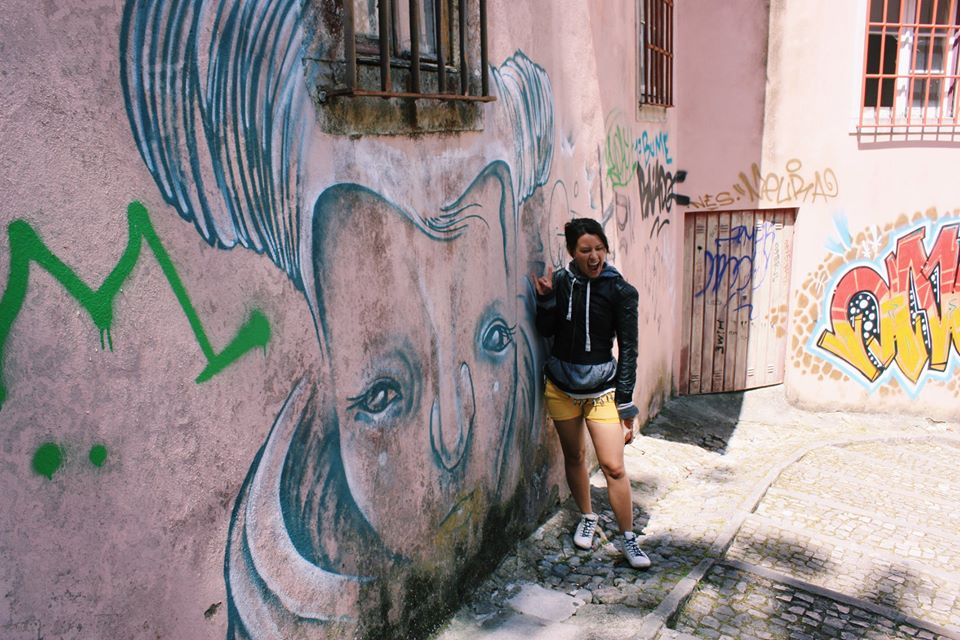 Sintra, Portugal: Have you ever wanted to take part in graffiti? If yes, style your loungewear as daywear.
