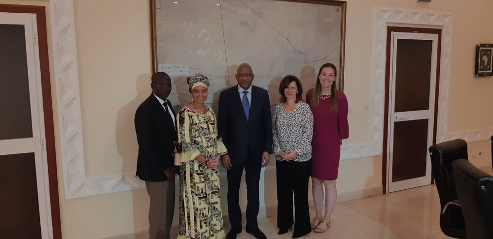 From Left: Salif, Kadiatou, Prime Minister Soumeylou Boubèye Maïga, Lisa, Marley