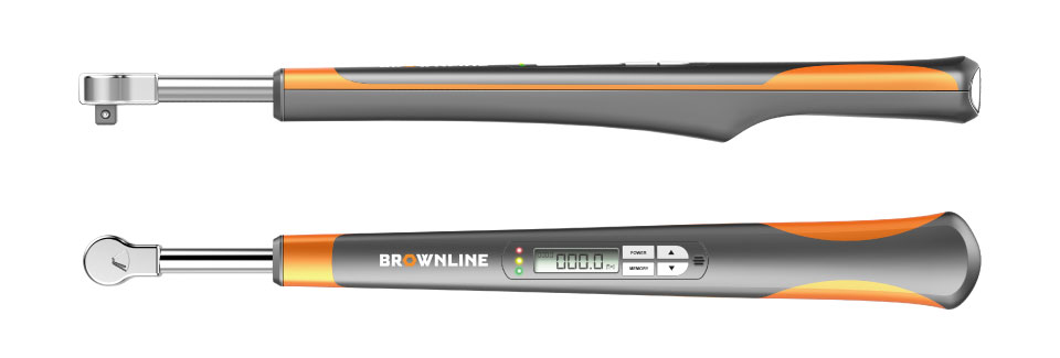front and side view of the Brown Line Digital Torque Wrench
