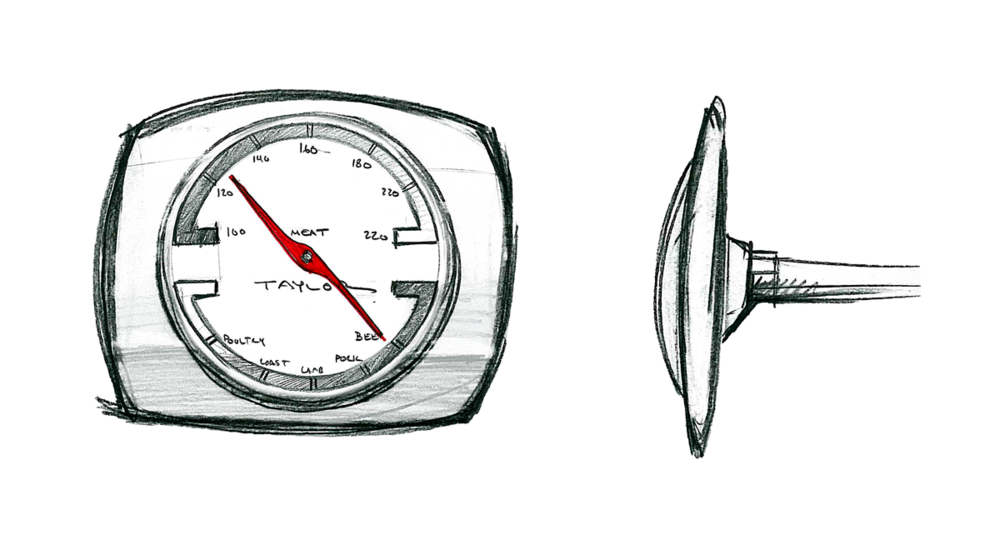 sketch of a Taylor Gourmet Thermometer