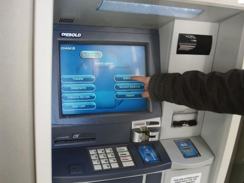 bank ATM interface