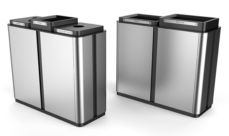 render of 2 modular Waste Receptacles