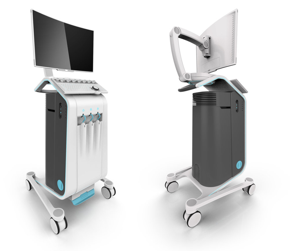 front and back perspective views of the Professional Ultrasound concept design