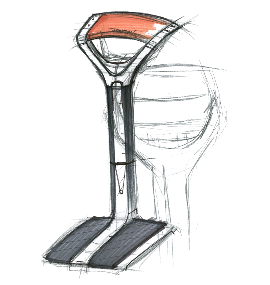 sketch of the NCIT Digital Beam Scale