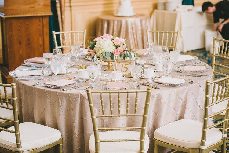 Inspired elegance events winnipeg wedding planner winnipeg blush and gold wedding decor event planner winnipeg junglespirit Image collections