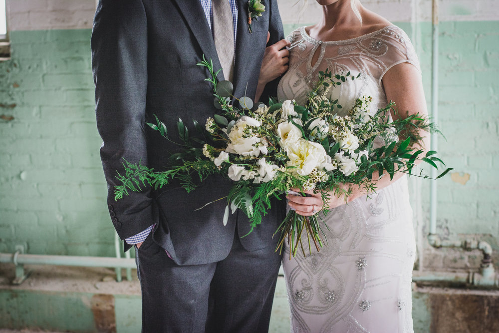 Green & Grey Warehouse Wedding Inspiration Winnipeg Manitoba