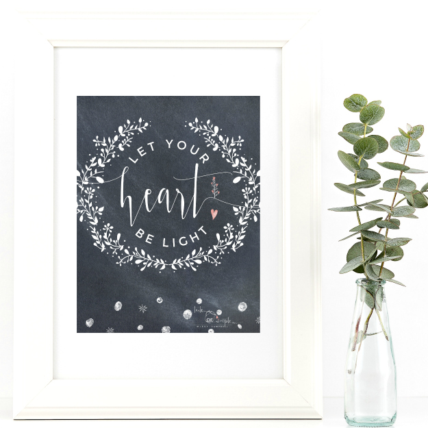 Let Your Heart Be Light {SMPL+FREE Printable}