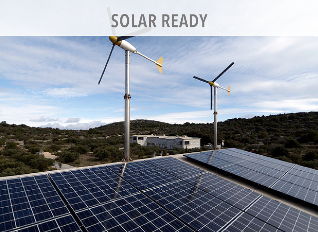 With a simple clip system on our Standing Seam Roof Panels you can easily attach solar photovoltaic (PV) modules that are electrically connected and mounted on a supporting structure that does not penetrate the roof surface.