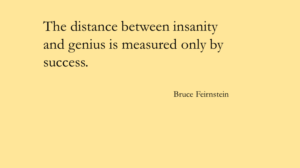 distance between insanity