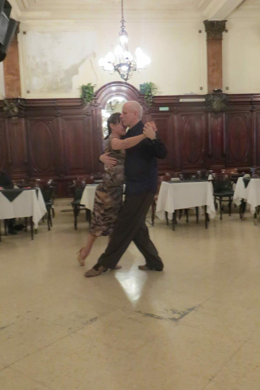 Liz dancing in Buenos Aires