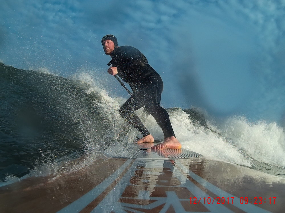 Stephen in action in Portstewart, Northern Ireland - mid-October!