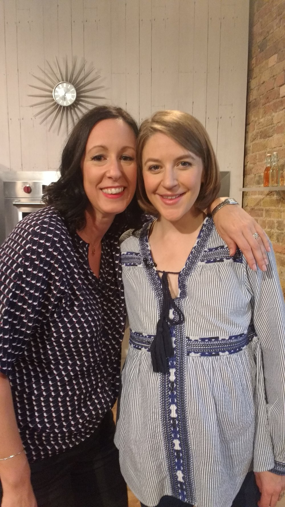 Sam with Gemma Whelan