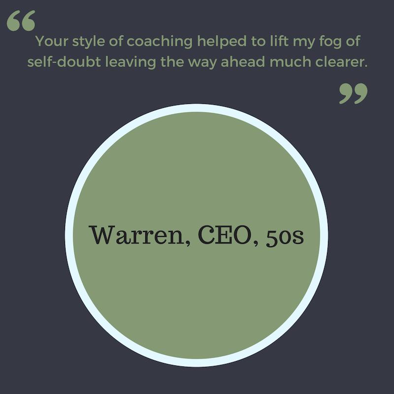 Warren, CEO, 50s Career change coach