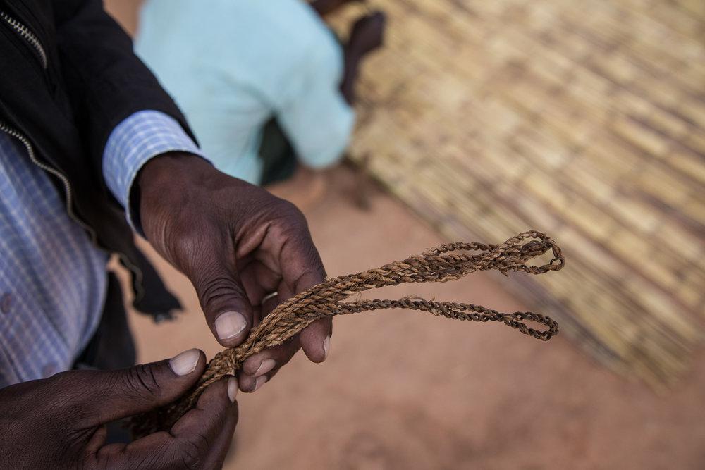 Handmade rope/twine.