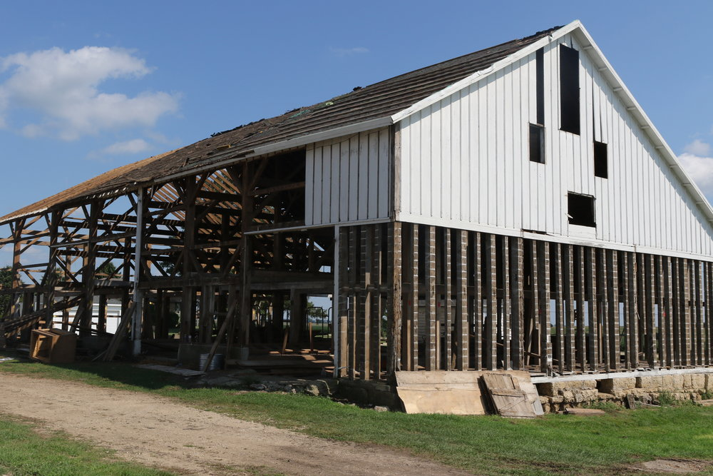 A picture of the barn from Polo, Il that was given to us to replace the barn we dedicated in 2010 which was destroyed in a tornado.