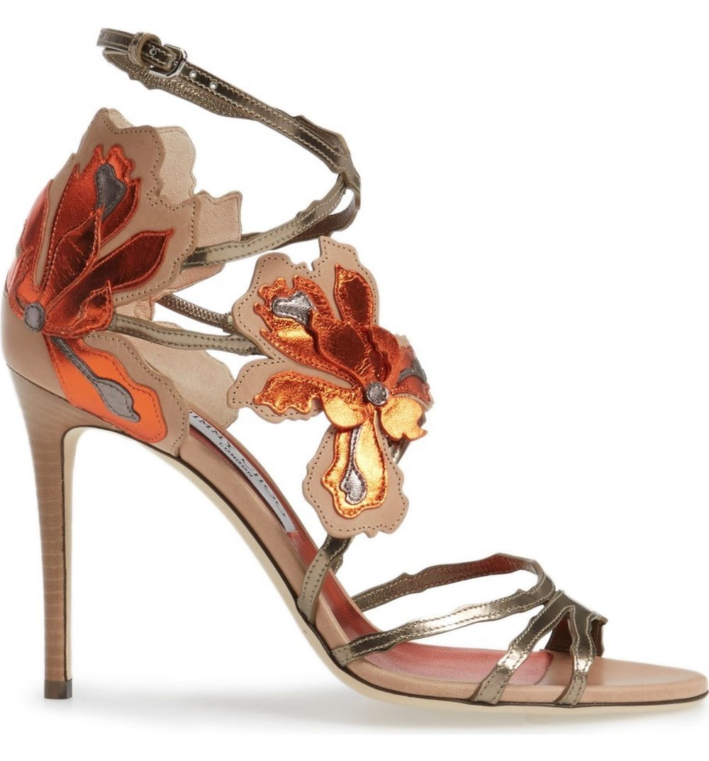 Jimmy Choo Lolita Strappy Flower Sandal