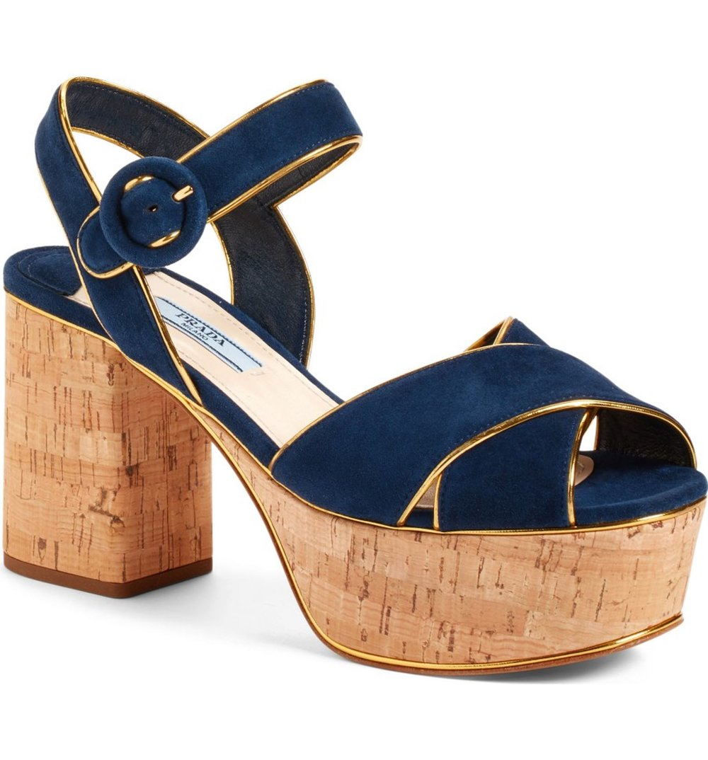 Prada Platform Cork Sandal