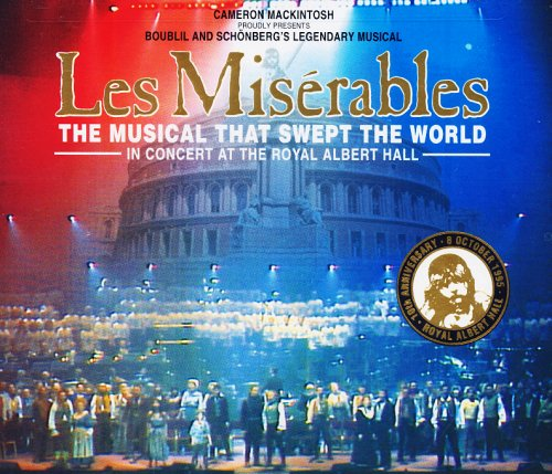 Les Misérables - a flag of light created to celebrate ten years; the show still going strong after more than thirty years!