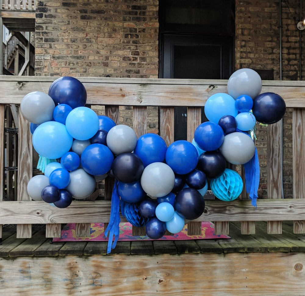 Fancy Hanging Balloon Garland -