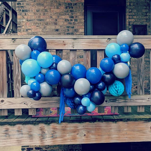 Starting this week, we're making these fancy hanging balloon garlands!! Each piece is unique, so easy to hang, and delivery is included for certain areas🎈Custom party decor made simple - we'll drink to that 🥂 DM us for pricing and details.