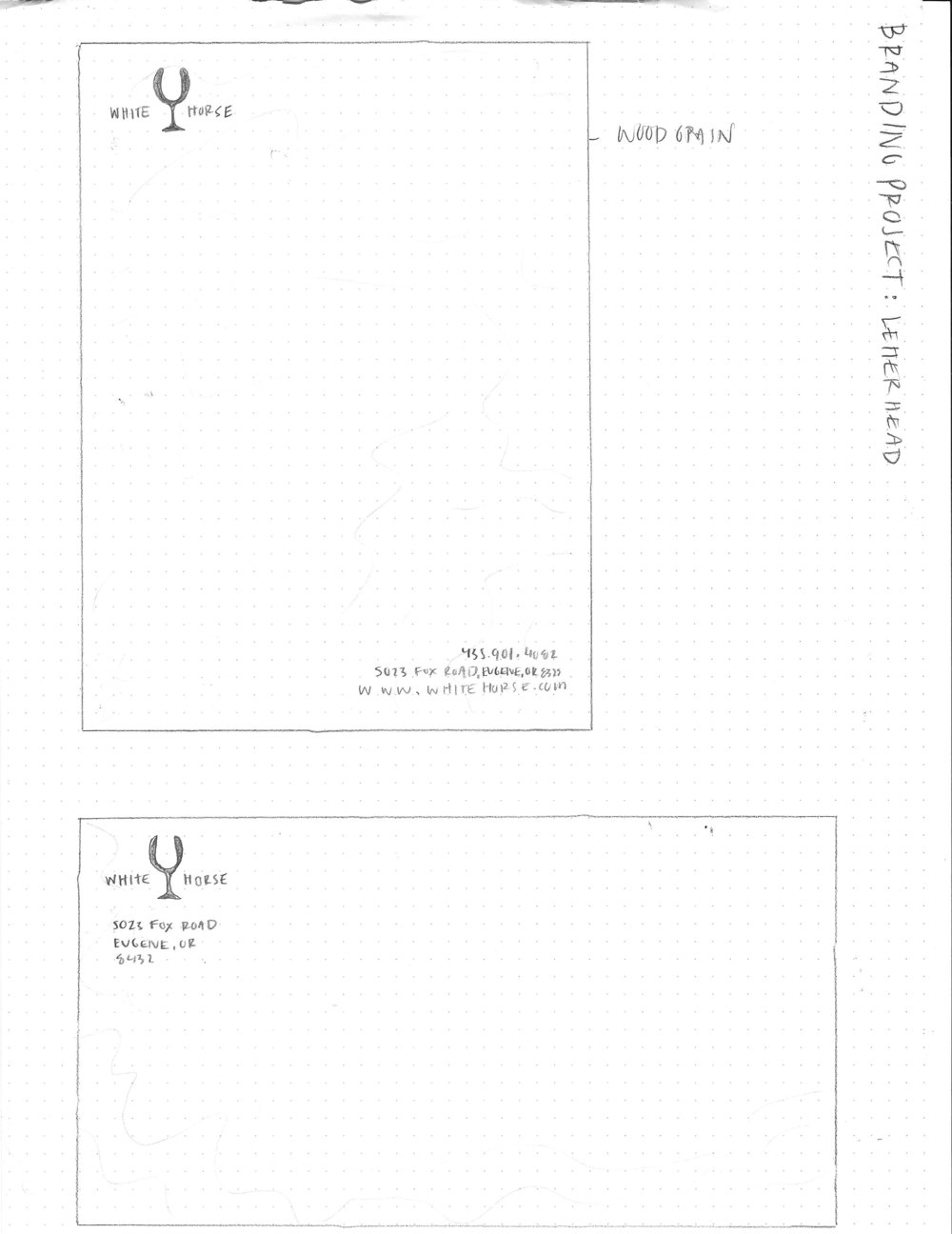 Letterhead and Envelope Sketches