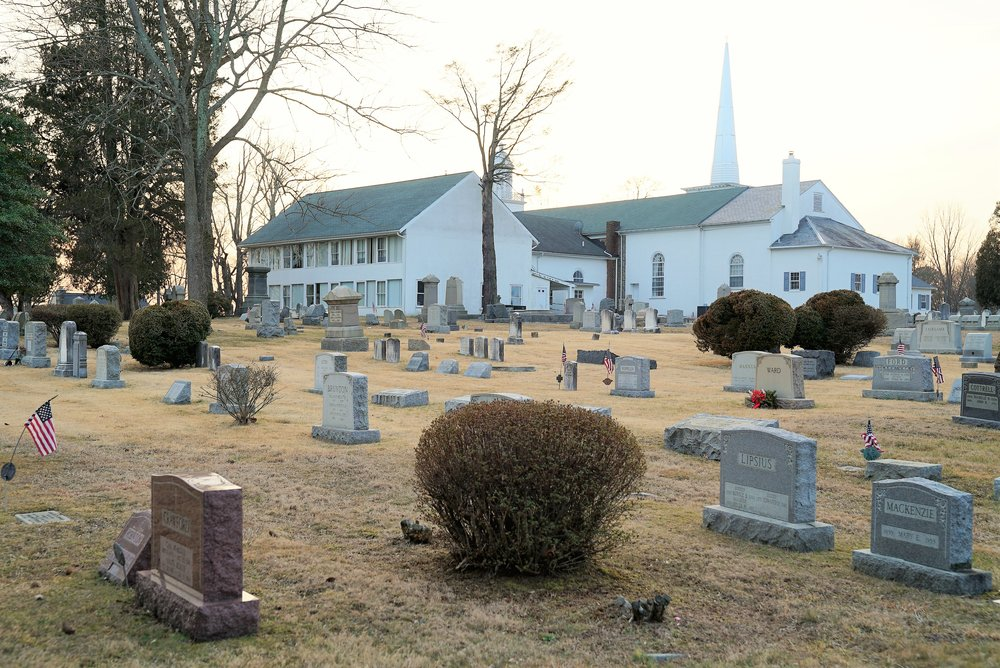 Middletown Presbyterian Church Cemetery. Rear view. Over 2000 interments. Running out of space.