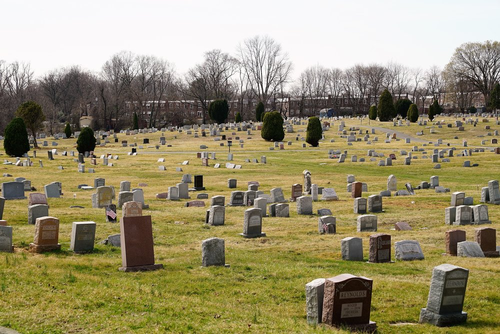 Photo: Eden Cemetery in Collingdale, Pennsylvania. It is fairly large.