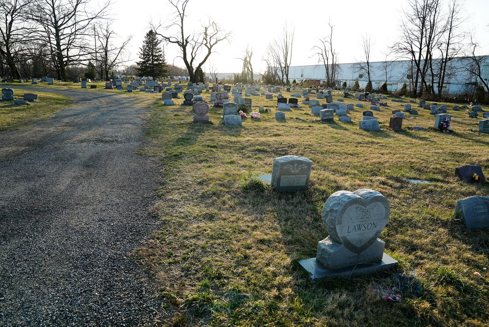 March 7, 2017 - Green Lawn Cemetery is looking good compared to my last visit, which was last spring. The grass had been uncut for a while.