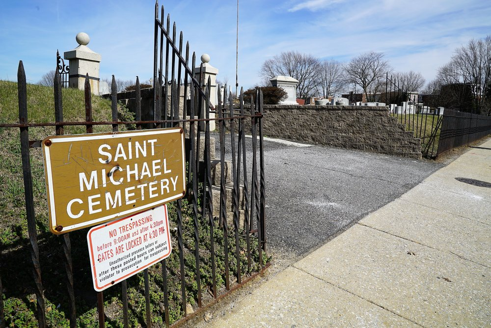 Entrance to St. Michael Cemetery. Chester, Pennsylvania.