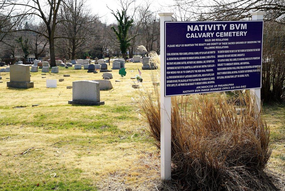 Photo: Nativity BVM Calvary Cemetery. Late winter 2017.