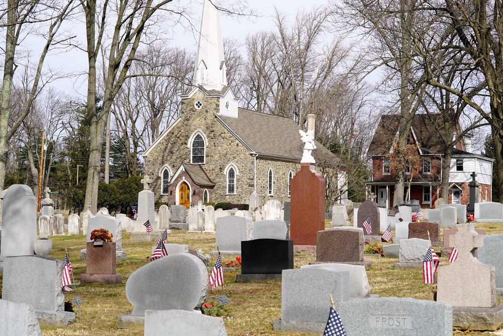 Photo: St. Thomas The Apostle Church Cemetery, located in Chester Heights, Pennsylvania.
