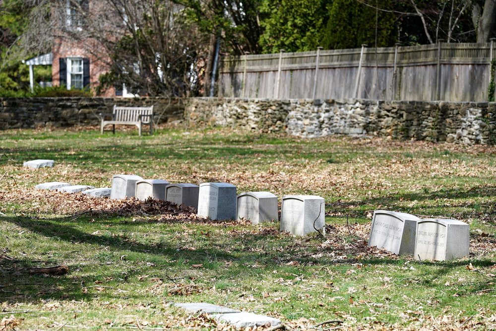 Providence Friends Meeting Cemetery. Media, PA. Early April 2017.