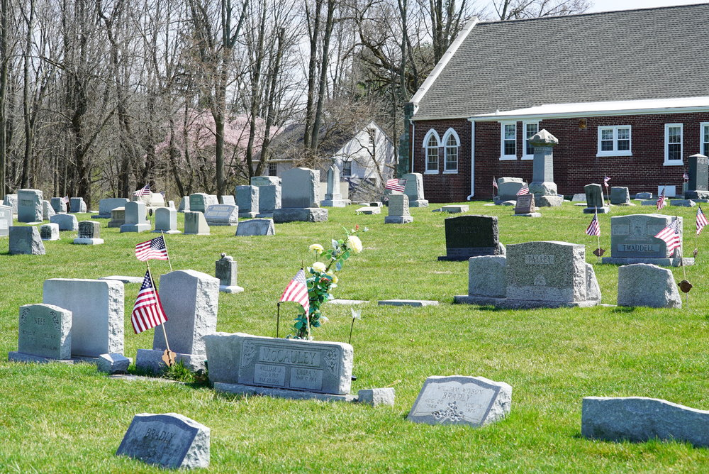 Elam United Methodist Church Cemetery. Glen Mills, PA. They have nice grass.